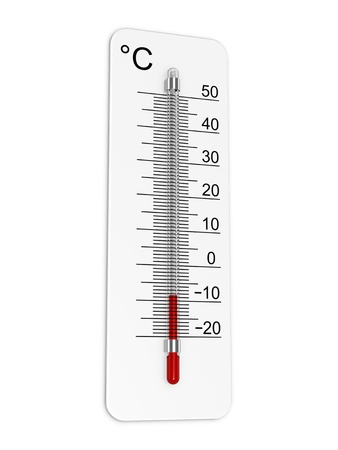 indicates: Thermometer indicates low temperature Stock Photo