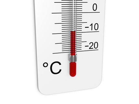 Thermometer indicates low temperature Stock Photo - 11449839