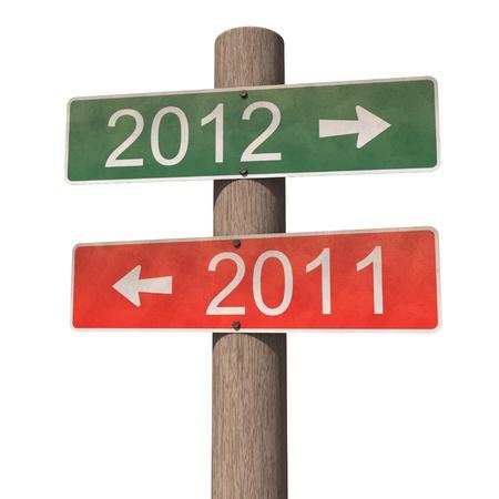 New Year 2012 sign Foto de archivo
