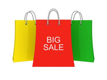 Set of Big Sale shopping bags Stock Photo