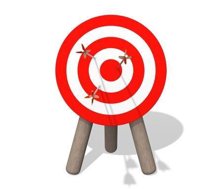Target bord met pijlen