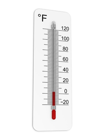 coldly: Thermometer indicates low temperature Stock Photo