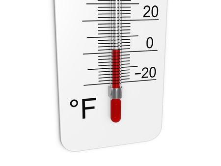 Thermometer indicates low temperature Stock Photo - 11449859