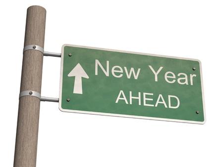 Nieuwe Jaar 2012 teken. 3d illustratie