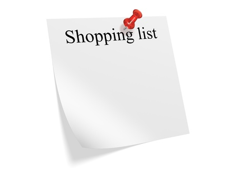 Shopping list for the New Year. 3d illustration Stock Illustration - 11740160