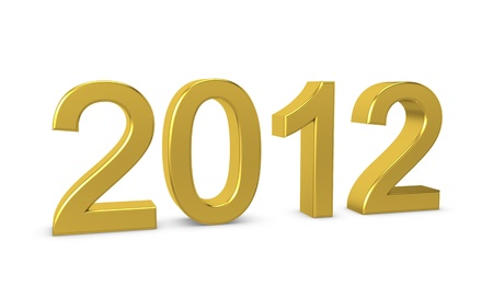 Happy New Year 2012. 3d illustration Stock Illustration - 11740165