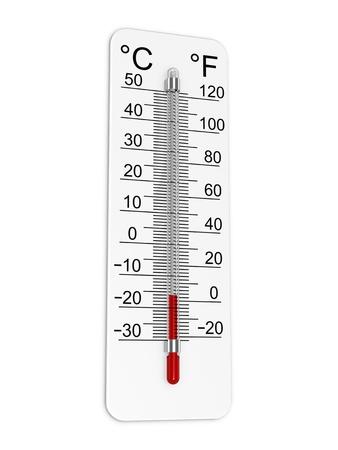 Termómetro indica la temperatura baja. Foto de archivo - 12384916