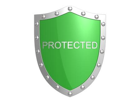 Bescherming schild. Stockfoto - 12384911