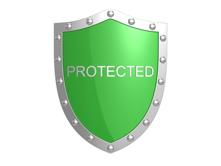Protection shield. Stock Photo - 12384911