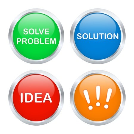 Solution buttons set. Vector illustration Vector