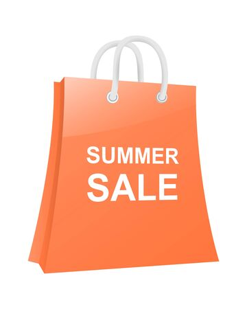 Shopping bag  Summer sale  Vector