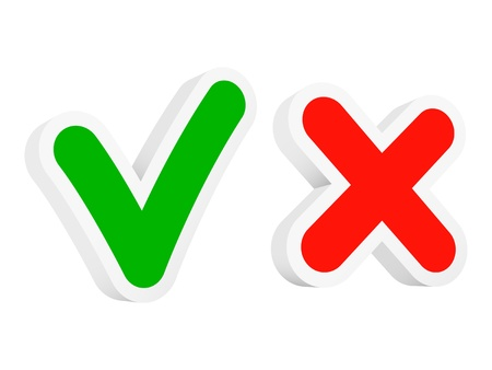cancelled: Vector checkmarks