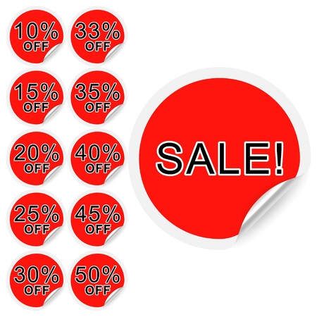 Set of discount labels  Part one  Vector