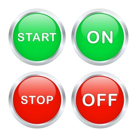 Aan en uit knop