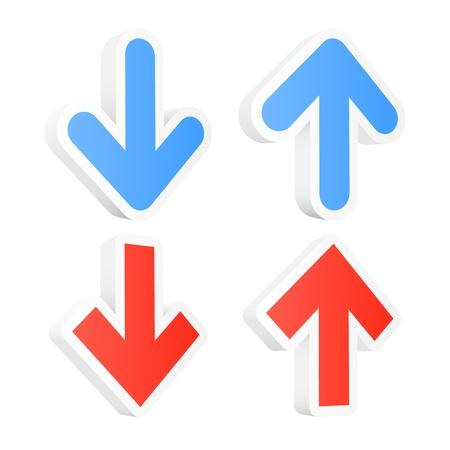 Arrow icons set Stock Vector - 13403855