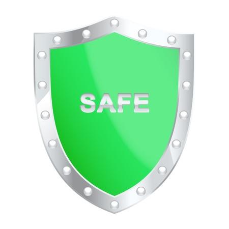 Protection shield illustration Vector