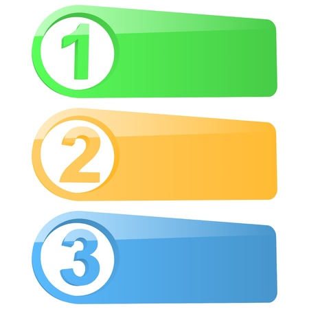 Set of abstract numbered banners illustration