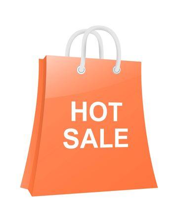 Hot sale shopping bag Stock Vector - 13730748