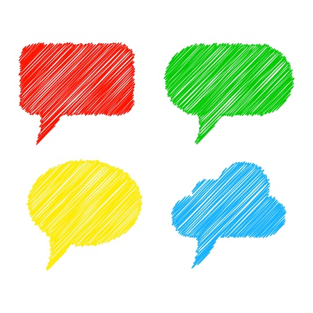 Colorful stylized speech bubbles Stock Vector - 13730747