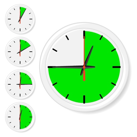Time icons. Vector illustration Vector
