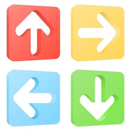 Arrow icons set. Vector illustratie