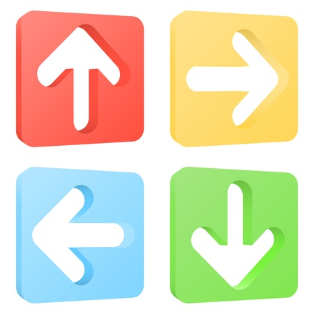 Arrow icons set. Vector illustration Illustration