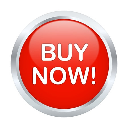 Koop nu knop. Vector illustratie Stock Illustratie