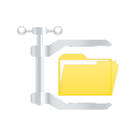Compress archive icon.   Vector