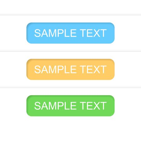 Information text labels.   Vector