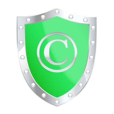 Copyright protection shield. Stock Vector - 13966480