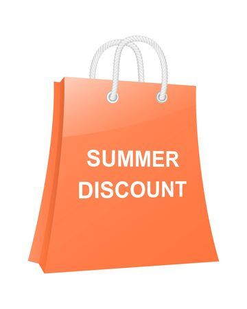 Summer discount shopping bag Vector