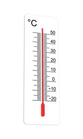 Thermometer geeft aan extreem hoge temperaturen