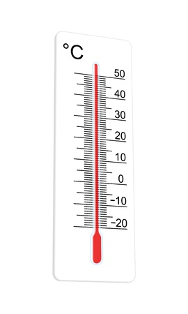 Thermometer indicates extremely high temperature Vector