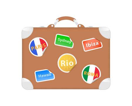 Travel suitcase. Vector illustration Vector