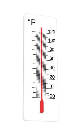 Thermometer geeft aan extreem hoge temperaturen. Vector illustratie