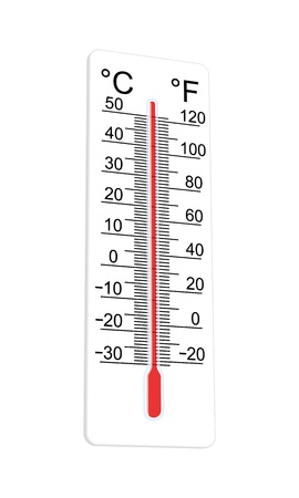 extremely: Thermometer indicates extremely high temperature. Vector illustration