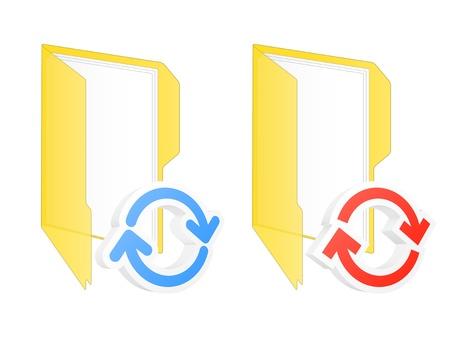 synchronization: Synchronization folder icon.
