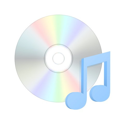 compact disk: Audio compact disk icon.  Illustration