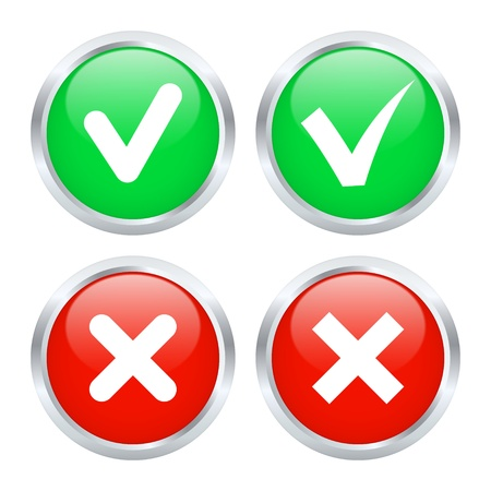 Checkbox buttons Stock Vector - 15824596