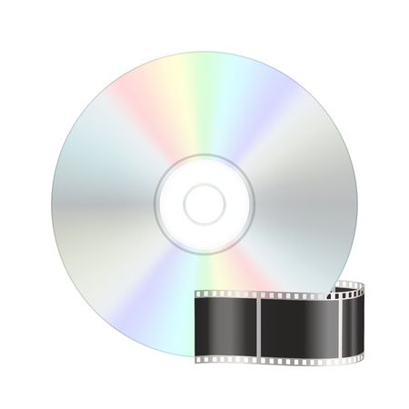 Video compact disk icon Vector