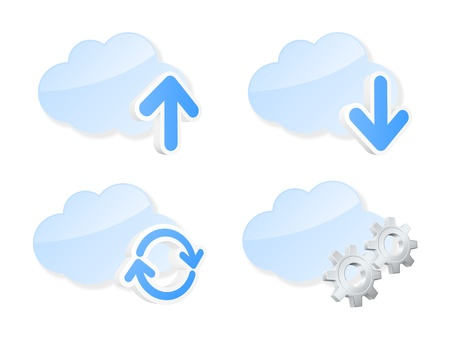 Cloud icons illustration Stock Vector - 15824574