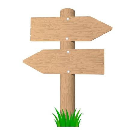 Wooden signboard. Stock Vector - 16023074