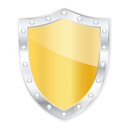 Bouclier de protection. Vecteurs