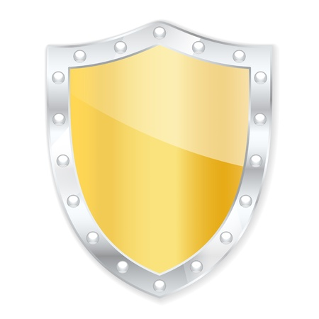 password protection: Protection shield.  Illustration