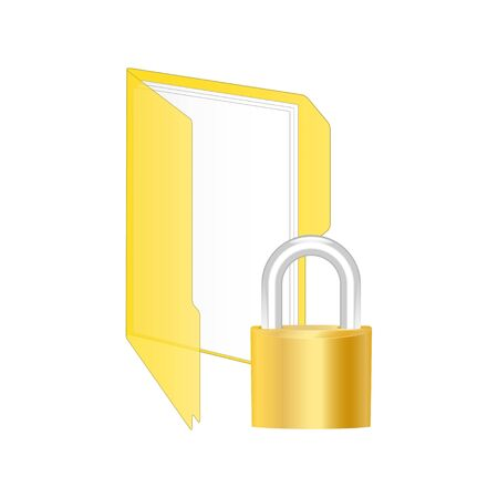 https: Protected folder icon. Vector illustration