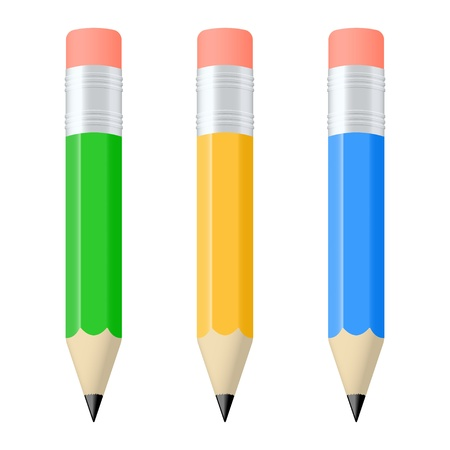 Set of colorful pencils. Vector illustration Stock Vector - 16242938