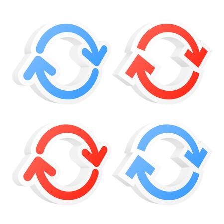 opfrissen: Vernieuwen cirkel pijlen. Vector illustratie