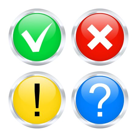 no problems: Information icons  Vector illustration