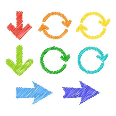 Kleurrijke gestileerde pijlen Vector illustratie Stock Illustratie