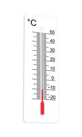 Thermometer geeft aan extreem lage temperatuur Vector illustratie